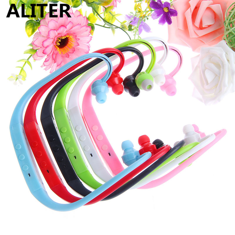 ALITER New Sports Running Ear Hook Headphone MP3 Player FM Headset Loop Gai