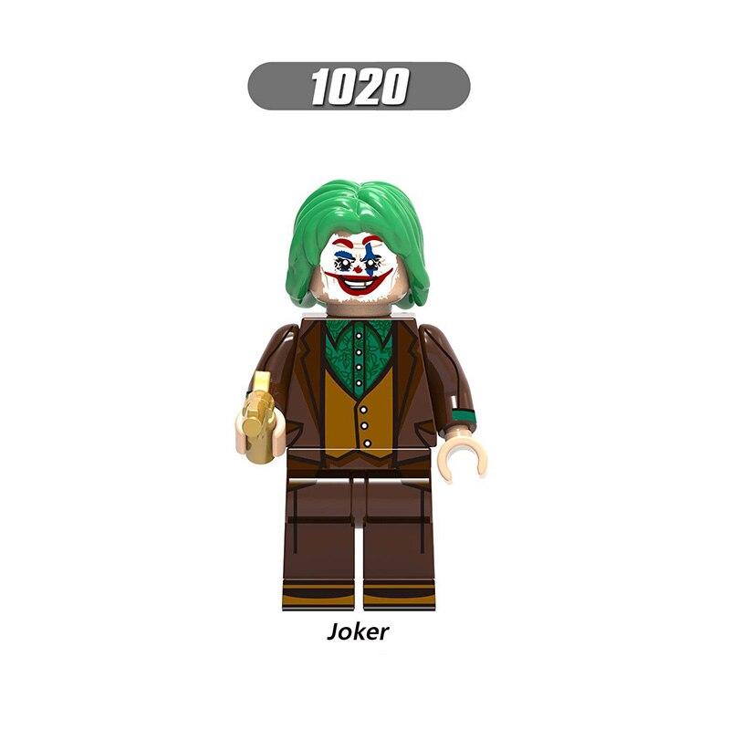 Single Sale LegoINGlys Super Heroes Marvel Avengers Joker Building Blocks Bricks Minfigured Toys  Children BOYS  Gift X0227