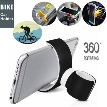 Universal GPS Mobile Cell Phone Holder Stands for Car Bike Bicycle Air Vent Mount 360 Degrees universal car swivel air vent mount holder for gps cellphone black