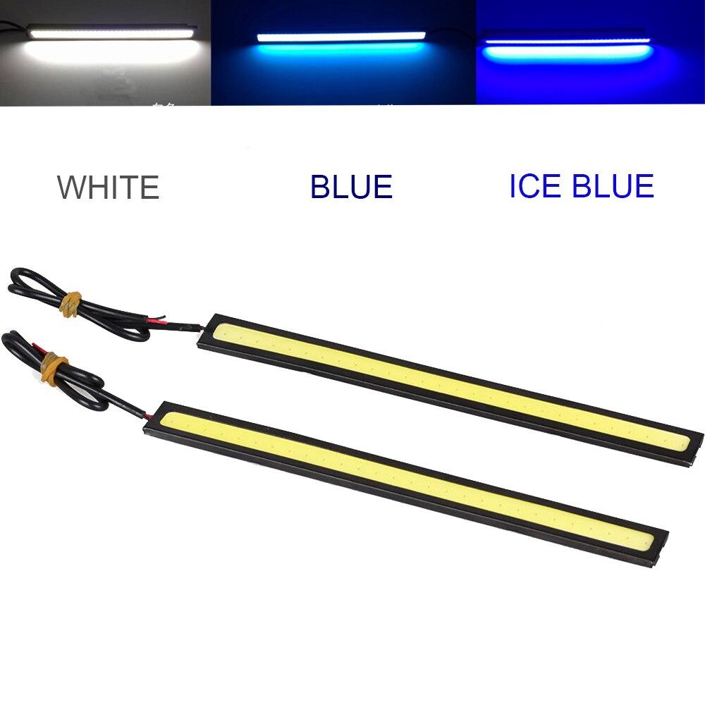 Водонепроницаемый Тонкий COB свет автомобиля светодиодный свет 12 В для DRL дневного туман вождения белый/синий/Ice синяя лампа ...