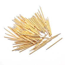 P058-B Metal Spring Test Probe Phosphor Copper Tube Gold-Plated Electrical Instrument Tool For Testing Circuit Board Instruments p048 j 100 pcs pack spring test probe phosphor bronze tube gold plated electrical instrument tool for testing circuit board