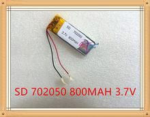 Litowa bateria energetyczna 3.7 V bateria litowo-polimerowa 702050 800 MAH ruchu długopis z funkcją nagrywania bezprzewodowy zestaw słuchawkowy