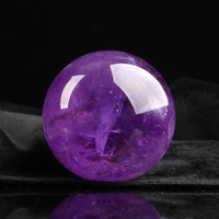 Natural quartz purple crystal ball home decoration energy magnetic field ball healing ball wholesale