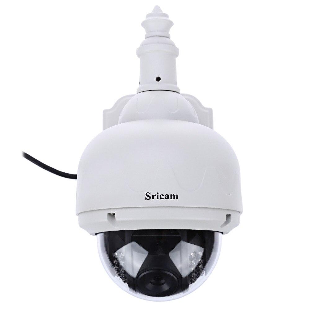 Sricam SP015 Беспроводной IP Камера 720P HD открытый IP66 Водонепроницаемый видеонаблюдения Инспекции ИК купольная безопасности PTZ Камера