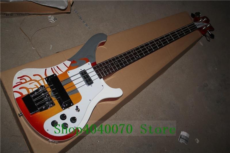 Usine Personnalisé Rickenback 4003 personnalisé 4 cordes Basse Électrique Guitare shiping libre 014