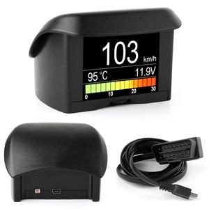 Image 2 - Ancel A202 على متن الكمبيوتر لسيارة OBD2 شاشة ديجيتال استهلاك الوقود سرعة الجهد مقياس درجة حرارة الماء OBD هود العرض