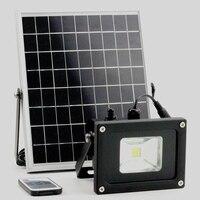 10 w solar luz do jardim luz de acampamento solar led projectores luzes de parede ao ar livre spotlight controle remoto luz de trabalho solar