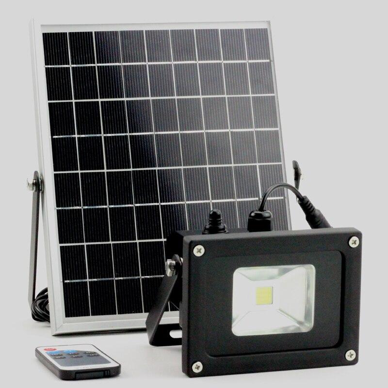 5W 10W solar light solar working lamp garden floodlight with lux sensor remote control remote control