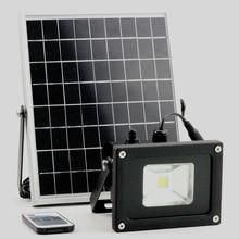 5 Вт/10 Вт Солнечный свет солнечной Рабочая лампа сад прожектор с Lux датчик и дистанционный пульт дистанционного управления светодиодный прожектор открытый