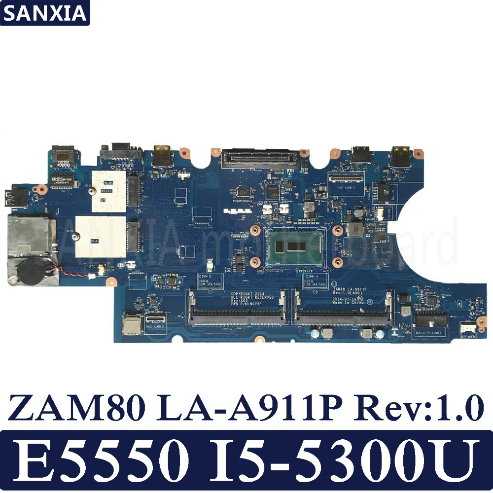 KEFU ZAM80 LA A911P Rev 1 0 Laptop motherboard for Dell Latitude E5550 Test original mainboard