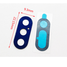 2Pcs/lot,Original Rear Back Camera Glass Lens Cover Replacement Parts with Sticker For iPhone X