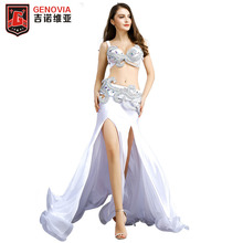 2019 New Women's belly dance costume wear Bar+Belt+skirt 3pc set lady ballroom salsa latin samba dance competition dress все цены