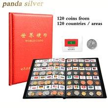 120 монет из разных стран мира, оригинальная монета мяты с кожаным альбомом, набор коллекционных предметов