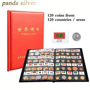 Image 1 - 世界のさまざまな国から 120 コイン、オリジナルリアルミントコインレザーアルバム、世界コレクションセットグッズ