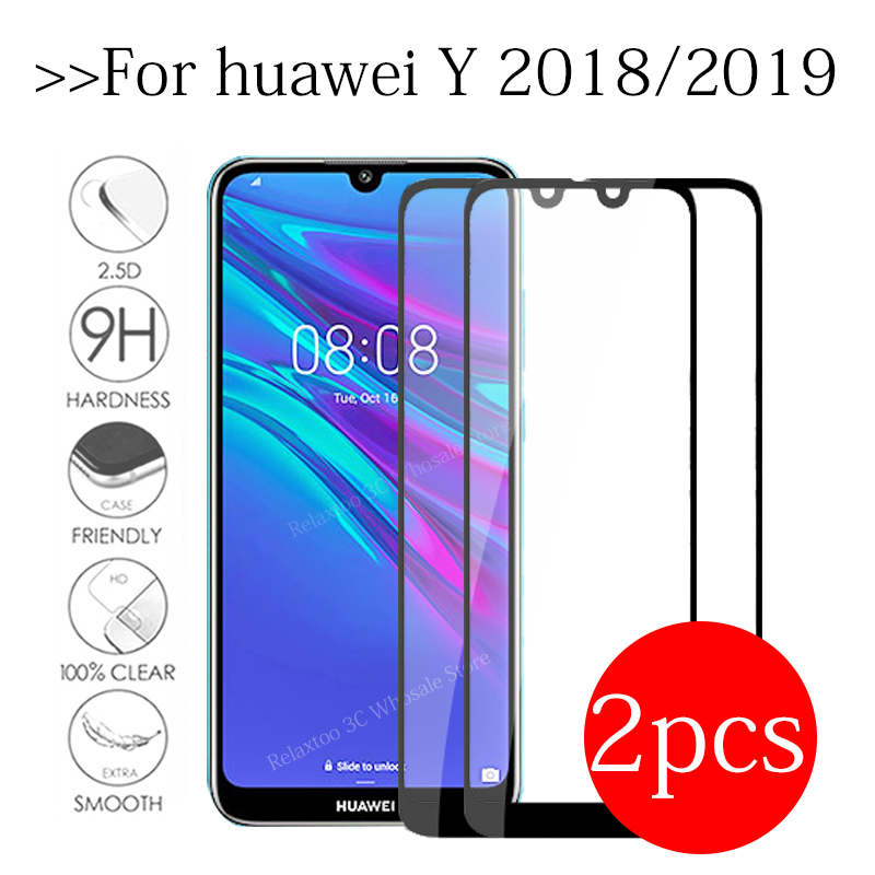 2pcs <font><b>Tempered</b></font> <font><b>Glass</b></font> For <font><b>huawei</b></font> y7 <font><b>prime</b></font> 2019 screen protector For <font><b>huawei</b></font> y5 y6 <font><b>prime</b></font> <font><b>2018</b></font> <font><b>Y</b></font> 5 <font><b>6</b></font> 7 Protective safety Film Cover image