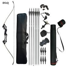 30-60 font recurve Take Down Bow készlet komplett kiegészítőkkel az íjászat számára Vadászat Lövöldözős gyakorlat Slingshot Black Camouflage