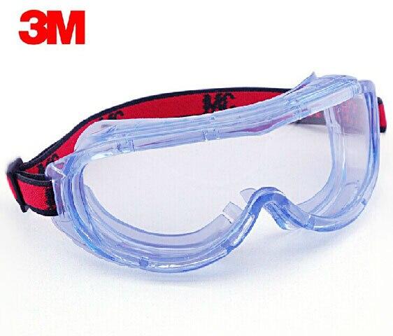 3 M 1623AF Óculos de Segurança Com lente Em Policarbonato Óculos de Proteção  À Prova de Vento Anti nevoeiro óculos Anti areia Anti respingo transparente  ... b13807d8f2