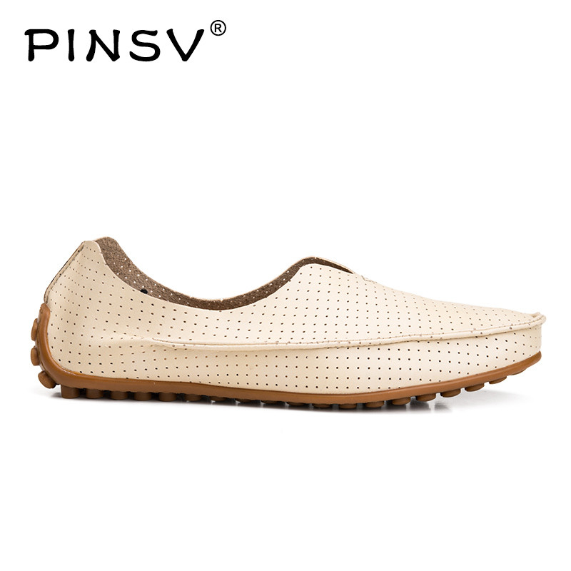PINSV Loafers Men Shoes Casual Red Men Driving Shoes Slip On Flats Leather Shoes Men Loafers Big Size 38-47 aleader high quality mens loafers casual fashion men shoes flats breathable men slip on driving shoes big size swims loafers