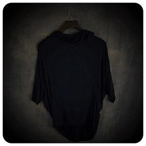 Image 4 - Hauts à manches asymétriques homme, 2 couleurs, haut de gamme, à la mode, non courant, vêtements pour hommes