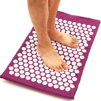 Back Neck Foot Massage Yoga Mat & Pillow Massager Cushion Shakti Relieve Acupressure Mat Body Pain Acupuncture Spike Massage Mat