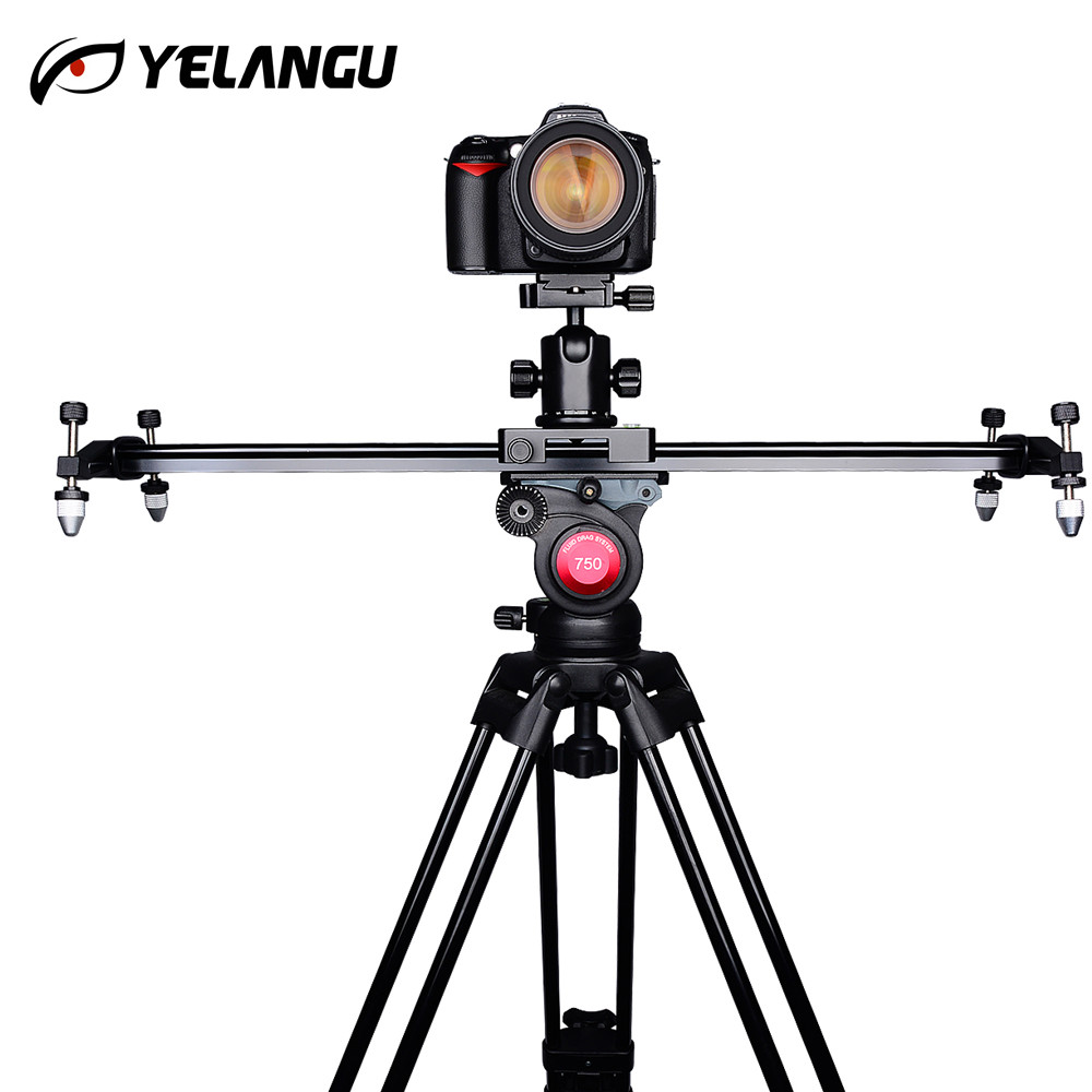 YELANGU DSLR Camera Track Dolly Slider Video Stabilization Rail System for Nikon Canon Sony Stabilizing Movie Film Video Making ulanzi 40cm 15in mini aluminum camera video track dolly slider rail system for nikon canon dslr camera dv movie vlogging gear