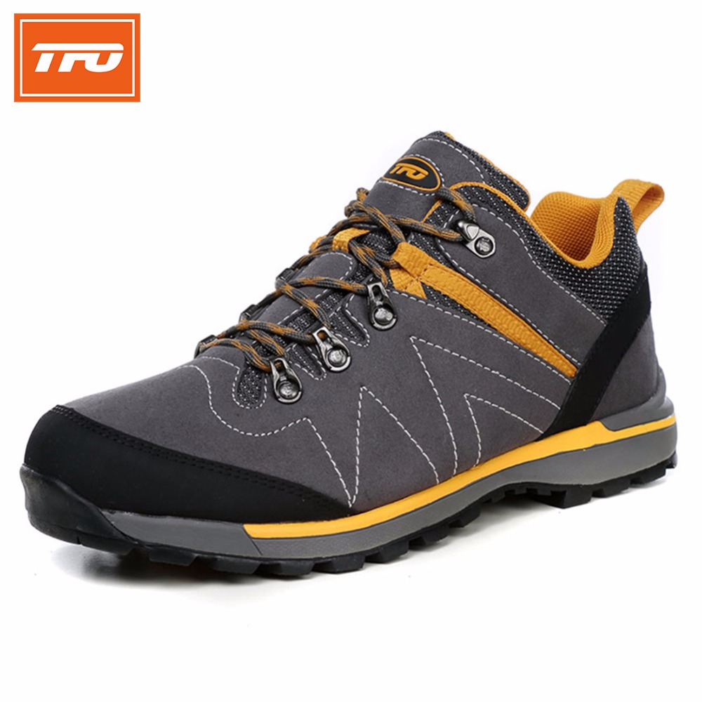TFO Men hiking shoes outdoor sport shoes men climbing mountain sneakers trekking hunting fishing breathable waterproof man brand 2016 man women s brand hiking shoes climbing outdoor waterproof river trekking shoes