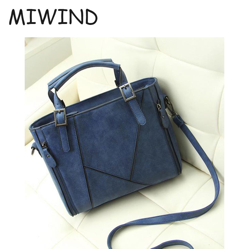 ФОТО Female Patchwork Grind Arenaceous Handbag Hard Interior Zipper Pocket Female Party Club Fashion Shoulder Bags