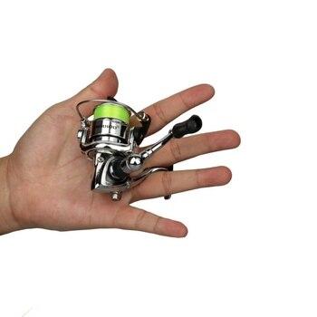 Canne à Pêche Sur Glace 38cm Canne à Pêche D'hiver En Acier Inoxydable Avec Moulinet De Pêche Mini Tige Max 5KG