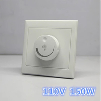 LED SCR Dimmer Switch 150W AC110V LED Dimmer Dimming Driver Brightness Controller For Dimmable Ceiling Light
