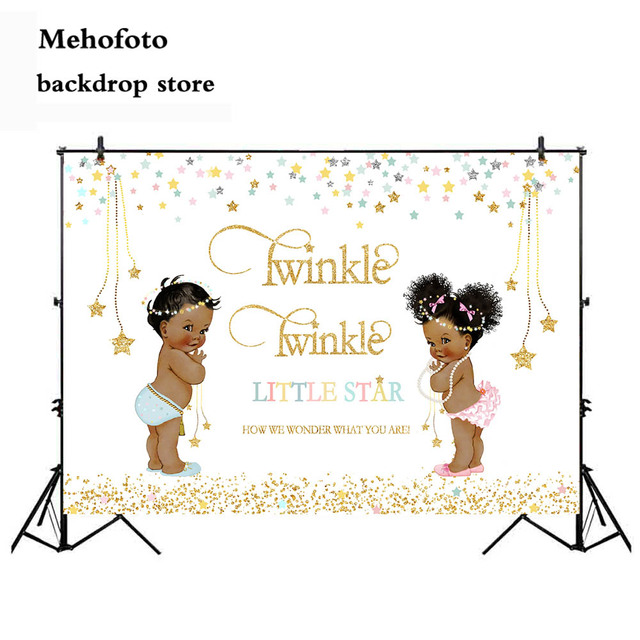 Neoback Twinkle Twinkle Little Star Backdrop for Photography Gender Reveal Photo Background Party Decoration Banner Favor 434
