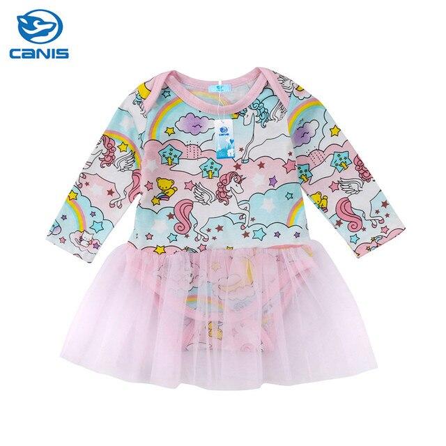 1d73825da4ed 2019 Spring Infant Baby Kids Girls Long Sleeve Romper Jumpsuit Tutu Pink Lace  Tulle Dress Outfits