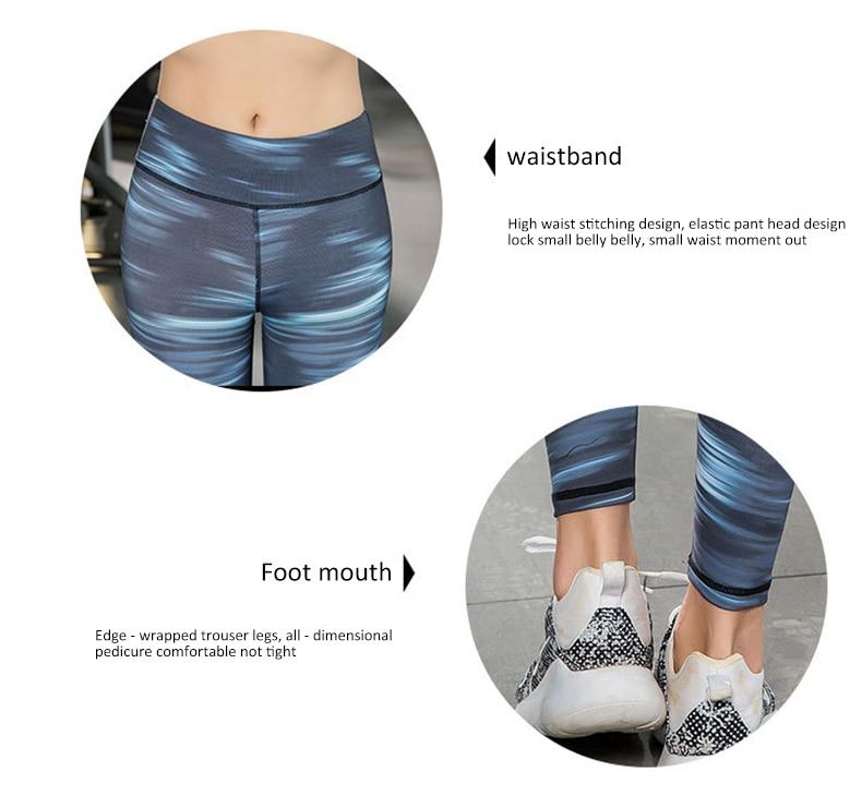 Штаны для йоги с принтом в европейском и американском стиле эластичные дышащие спортивны фитнес штаны танцевальные лосины для йоги брюки