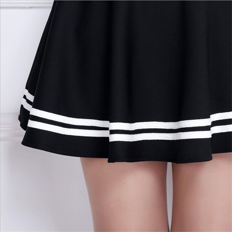 Women Skirt Elastic Faldas Sexy Girl Mini Short Skirts Anti-Glare A-line Pettiskirt Skirt Bottom Pleated Skirt
