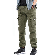 Drop shipping 2018 new autumn mens military cargo pants straight fit casual tatical trousers long trousers AXP119