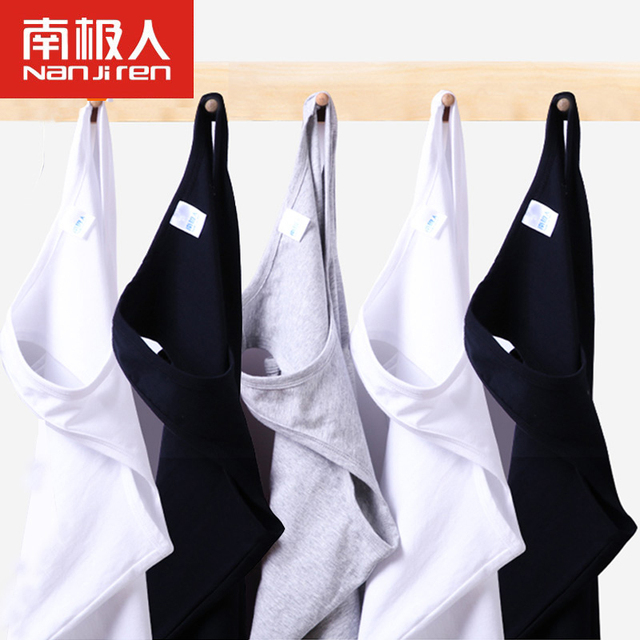 3pcs/lot Sexy Mens Undershirts Causual Tops Shirts Solid Cotton Slim Male Undershirt Tank Vest Bottoming Underwear Shirt for Men