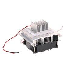 DIY термоэлектрический Пельтье холодильная система охлаждения комплект полупроводниковый кулер проводимости Модуль и радиатор и вентилятор и TEC1-12706
