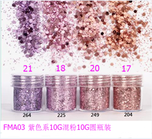 1 Box Colorful Nail Shining light Dazzling Hexagon Sequins Ultra-thin Glitter Iridescent Flakes Sparkles for Face Body Hair