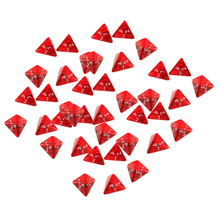 40 Pieces 4 Sided Dice Set D4 for Dungeons and Dragons Board Game Red Acrylic Polyhedral Dices for TRPG Game Lovers 4 pieces klm4 transformer for heidelberg klm4 board