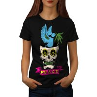 Peace Love Skull Eye Song Bird Women S XL Harajuku Brand Women Tops Hiphop Female Casual