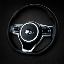 Car Styling Steering Wheel Decoration Circle Cover Trim Sticker For Kia Sportage QL 2016 2017 Interior Accessories Car styling