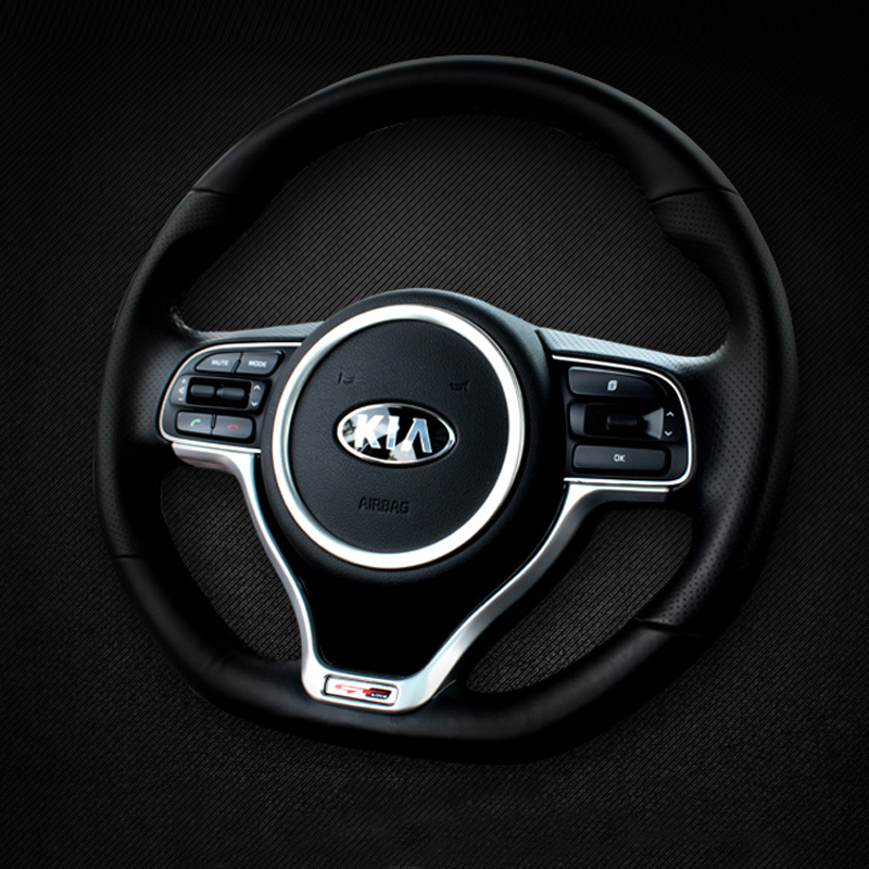 Car styling Steering Wheel Decoration Circle Cover Trim Sticker Decal For Kia Sportage 4 QL 2016 2017 2018 Interior Accessories