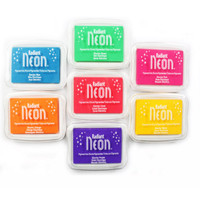 7 Colors Tsukineko Moon Cat Radiant Neon Color Pure Color Series Ink Pad For Paper Rubber