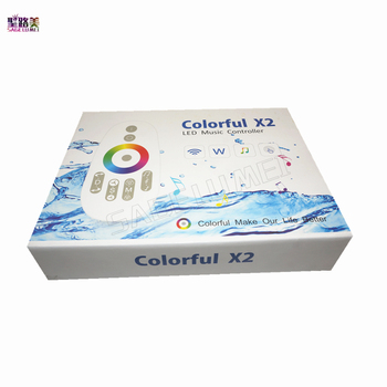WS2812B/WS2811/WS2813/USC1903/6803 Musik X2 LED Pengendali Jalur Modul DC5V 12 V 24 V input MAX 1000 piksel dengan RF Sentuh Jauh