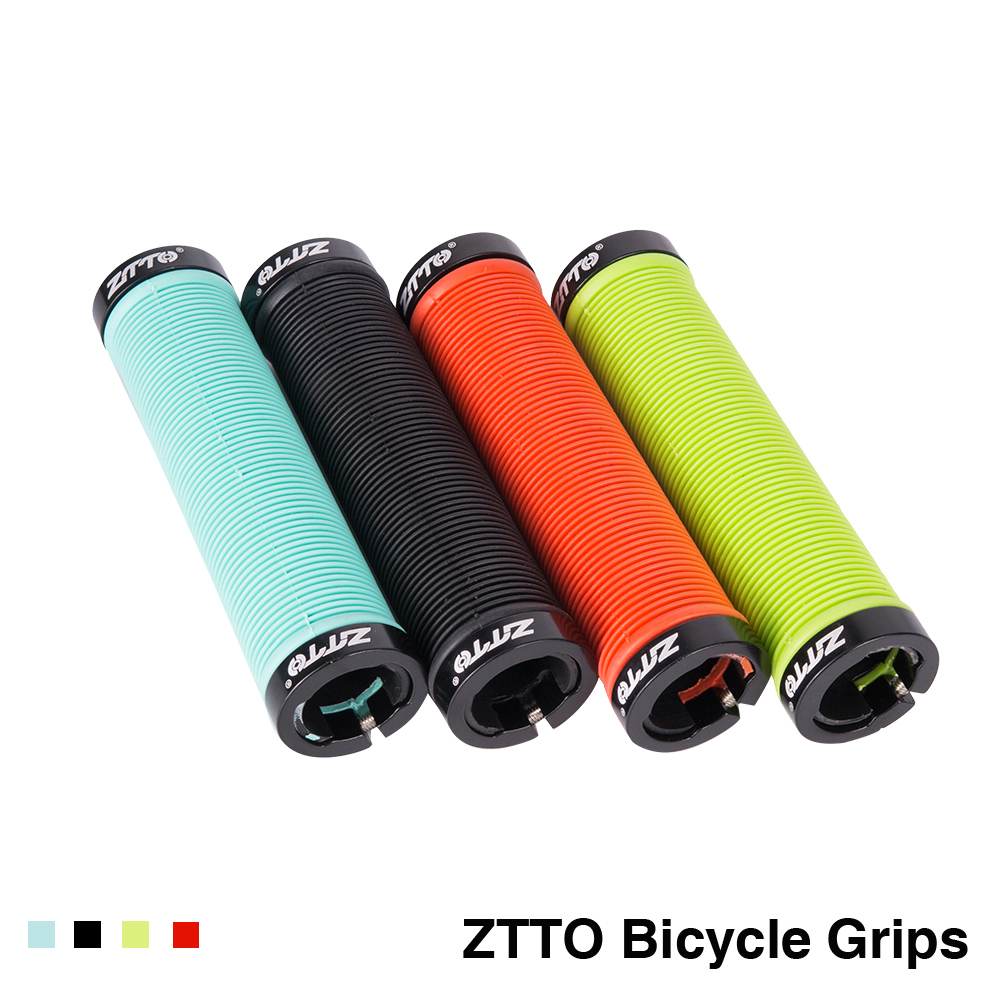 MTB Handlebar Grips Silicone Gel Lock On Anti Slip Grips For Mountain Bike Folding Bicycle Parts 1 Pair