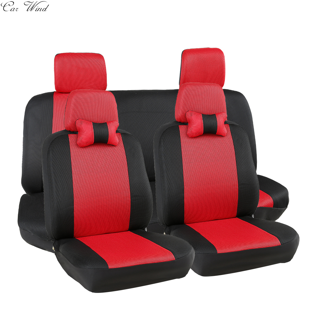 car wind Universal car seat covers for mazda toyota lada kalina granta priora renault logan vw polo breathable car accessories