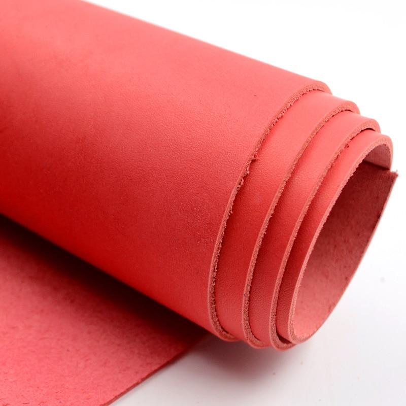 Первый слой натуральной кожи Кожа около 2 мм толщиной старинные красный арбуз натуральная кожа