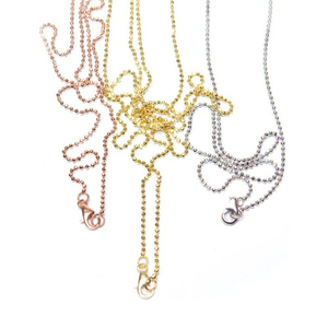 Vinnie Design Jewelry chains necklaces rose gold, gold and silver color, 80cm ball chain for coin holder pendant