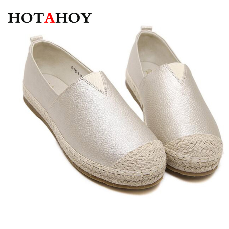 Loafers Shoes Women Slip on Flats Solid Spring Summer Ladies Round Toe White Shoe Plus Size Footwear flat shoes women pu leather women s loafers 2016 spring summer new ladies shoes flats womens mocassin plus size jan6