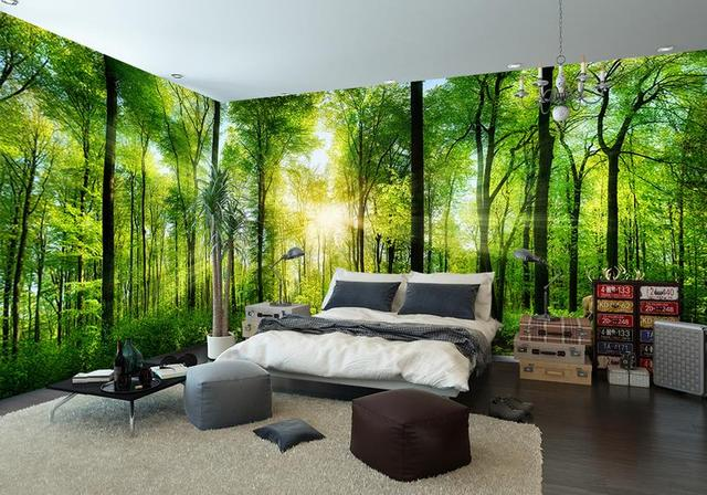 2017 New Style Wallaper Living Room Custom Hd Forest Landscape Wallpaper For Wall Home Decor