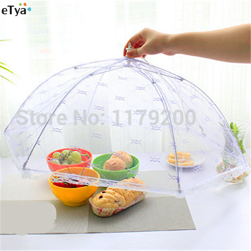 1PC Mesh Food Covers  Big Size Table Cover Umbrella Style Hexagon Gauze Meal Anti Fly Mosquito Kitchen Gadgets Cooking Tools